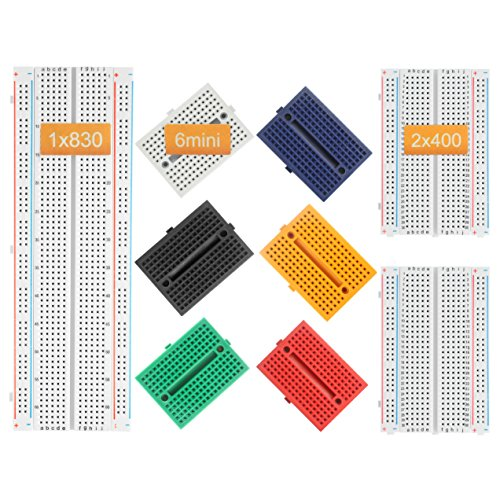 DEYUE Solderless Prototype Breadboard | 1x830 tie in Point Breadboard 2x400 tie in Points Circuit Boards 6x170 tie Points Mini Modular breadboard Kit