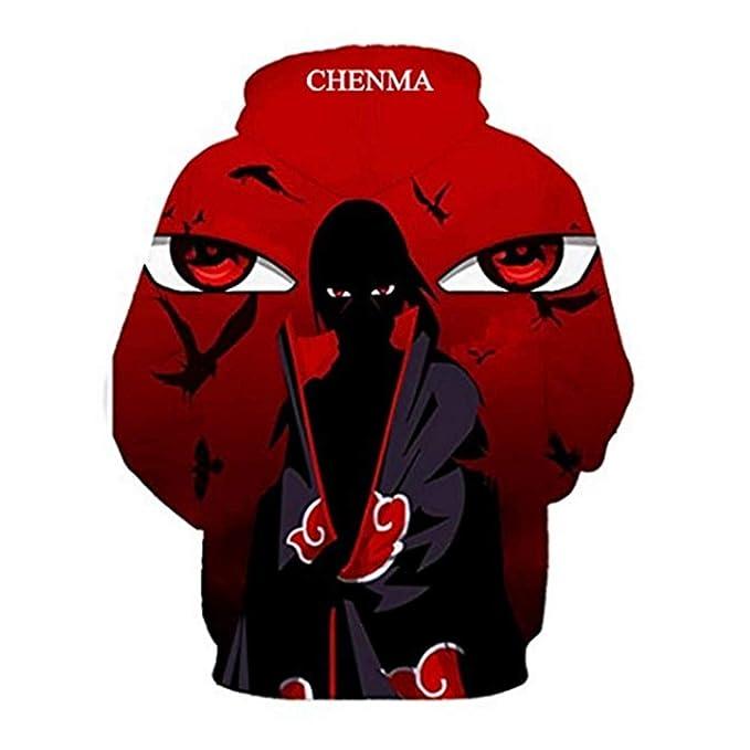 aab4a6756fa8 Amazon.com  CHENMA Men Naruto 3D Print Pullover Hoodie Sweatshirt with  Kangaroo Pocket  Clothing