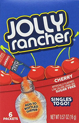 Jolly Rancher Singles to Go Water Drink Mix, Cherry Flavored Powder Sticks, (12 Boxes with 6 Packets Each – 72 Total Servings) (Cherry Mix)
