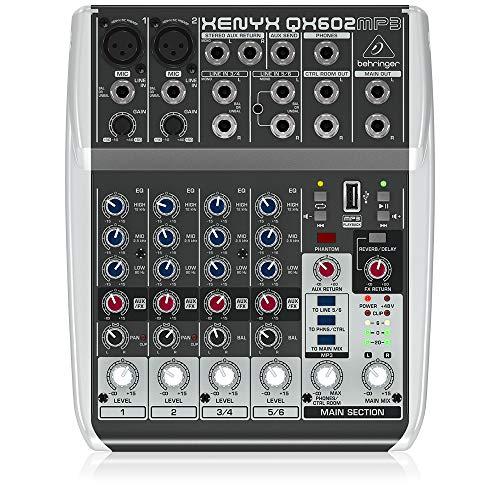 BEHRINGER, 6 Mezclador de audio (QX602MP3)
