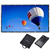 Instahibit 120'' 16:9 Portable Front Projection Screen Foldable PVC 3D 4K HD with Holes Home Theater Yard Camping