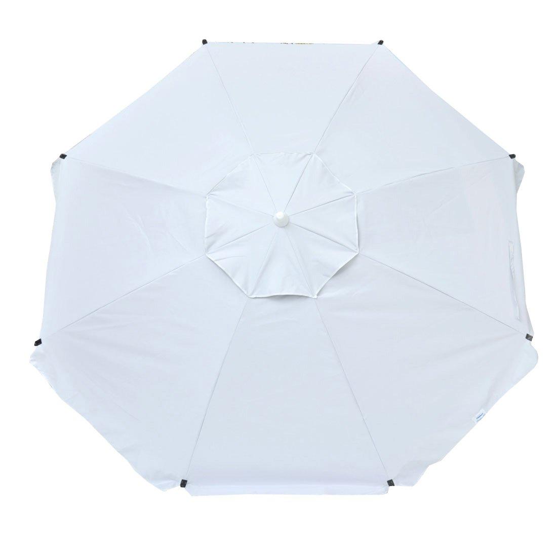Accessory Hook 8 ft Heavy Duty Beach Umbrella with Fiberglass Ribs Carry Bag