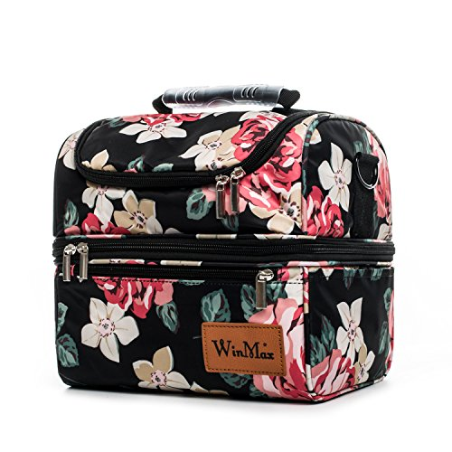 Insulated Lunch Box with Shoulder Strap for Men and Women
