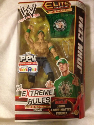 John Cena WWE Elite Best of PPV 2012 Toys R Us Exclusive (Build A John Laurinaitis Figure compare prices)