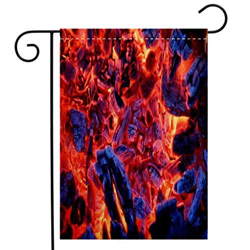 BEIVIVI Creative Home Garden Flag Smoldering Ashes of a Bonfire Garden Flag Waterproof for Party Holiday Home Garden Decor ()