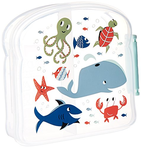Sugarbooger Good Lunch Sandwich Box, Ocean (Sugarbooger Snack Containers)