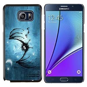 EJOOY---Cubierta de la caja de protección para la piel dura ** Samsung Galaxy Note 5 5th N9200 ** --Los murciélagos lindo Furry Art Dibujo Pintura Cartoon