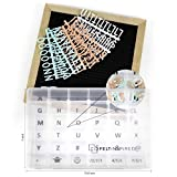 Extra Letter Set EXPANSION PACK for Changeable Felt Letter Boards. Pastel & White