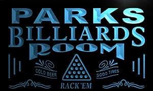 pj1306-b PARKS Billiards Room Rack 'em Bar Beer Neon Light Sign
