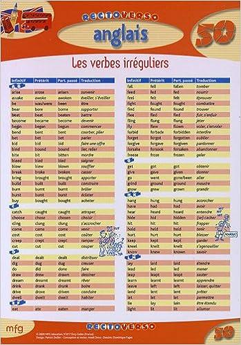 Amazon Fr Anglais Les Verbes Irreguliers Mfg Education Livres