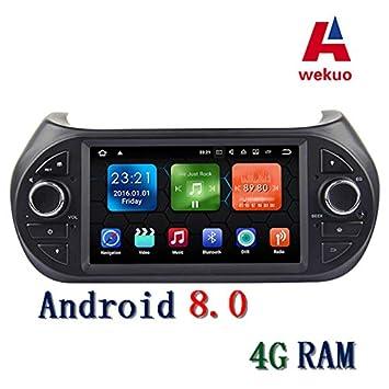 Wekuo 4RAM Android 8.0 Reproductor de DVD para Coche Fiat Fiorino Qubo Citroen Nemo Peugeot Bipper Radio GPS estéreo con Bluetooth WiFi: Amazon.es: Coche y ...