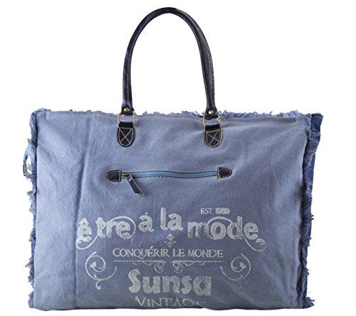 Vintage en 51701 Sac Toile Sac toile cuir main Shopper à et Ladies plage Femme Sunsa de SIZdSv