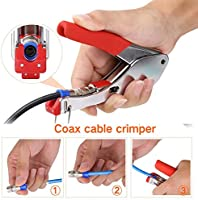 Crimpadora de cable coaxial con conectores F RG6 RG59, kit ...