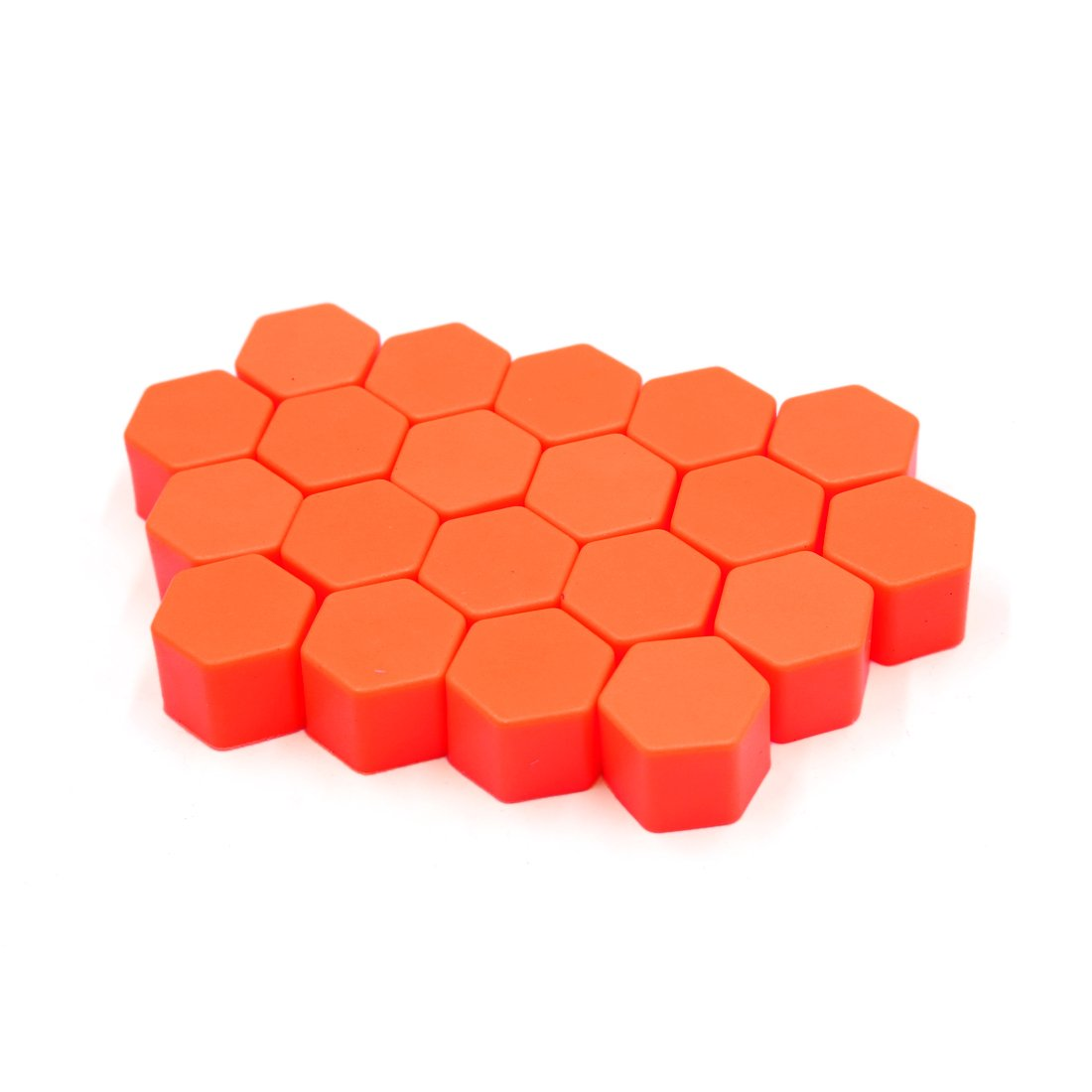 uxcell 20Pcs Orange Silicone 19mm Car Wheel Nut Lug Hub Covers Screw Dust Protect Caps a17042600ux0434