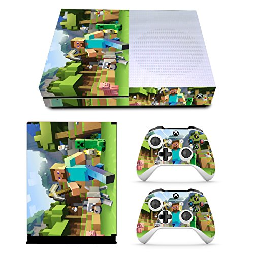 (EBTY-Dreams Inc. - Microsoft Xbox One Slim - Mine Video Game Vinyl Skin Sticker Decal Protector)