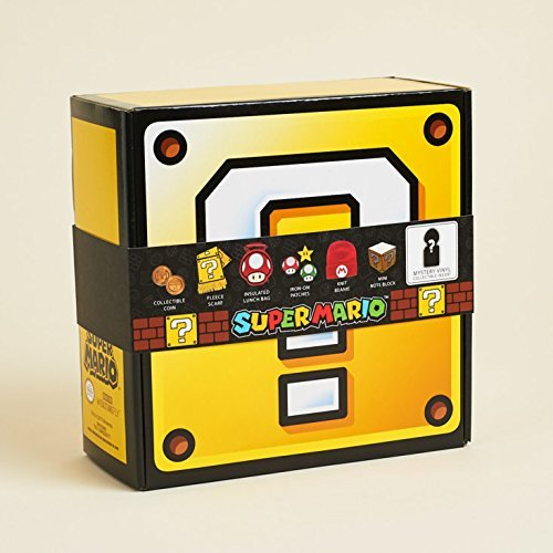 CultureFly Super Mario Collectibles Box, Mini Note Block - Collectable Box