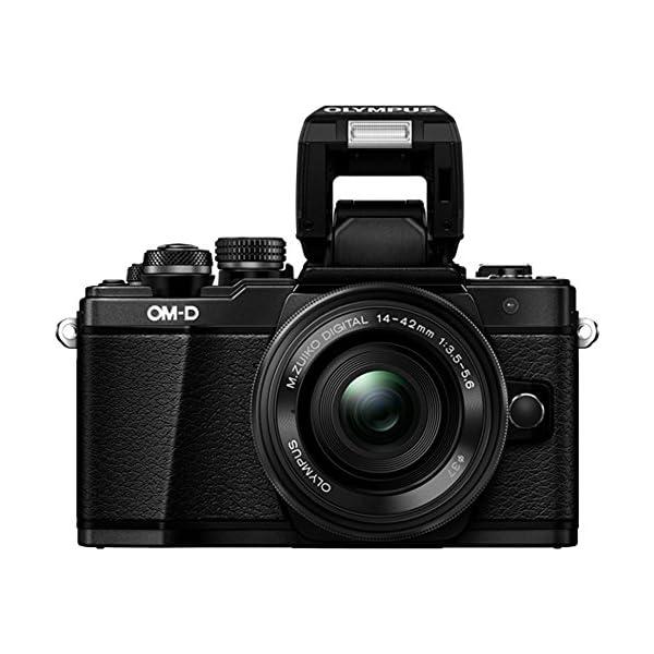 RetinaPix Olympus OM-D E-M10 Mark III Mirrorless Micro Four Thirds DSLR Camera with 14-42 EZ and 40-150 Twin Lens Kit (Black) (Black) + SanDisk 128GB Extreme Pro SDXC UHS-I Card - C10, U3, V30, 4K UHD, SD Card