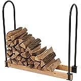 Sunnydaze Steel Adjustable Firewood Log Rack