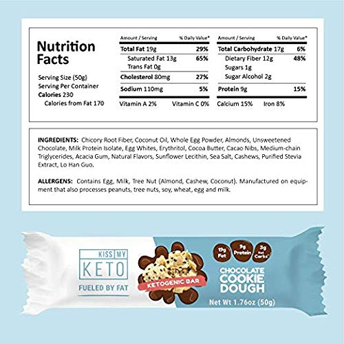 Kiss My Keto Snacks Keto Bars - Keto Chocolate Variety (3 Pack, 36 Bars), Nutritional Keto Food Bars, Paleo, Low Carb/Glycemic Keto Friendly Foods, All Natural On-The-Go Snacks, Low Net Carbs by Kiss My Keto (Image #5)