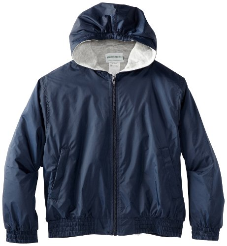 CLASSROOM Little Boys' Uniform Lined Bomber Jacket, Navy, Small (Navy Blue Kids Flight Jacket)