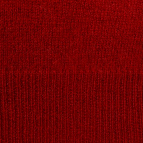 Men's 100% Cashmere Solid V-Neck Sweater (L, Regatta Red) by Club Room (Image #3)