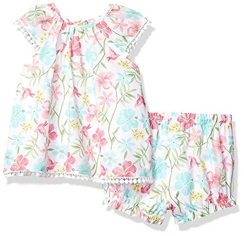 Sunsuit Woven - Little Me Baby Girls 2 Piece Woven Sunsuit, Floral 3 Months