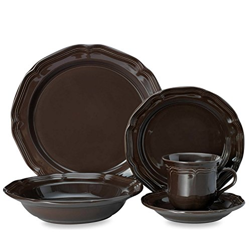 French Countryside Chocolate 5 Piece Place Setting -