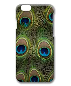 Unique Design Case for iphone 6,Fashion 3D PC Shell Skin for iphone 6 with Peacock Feathers