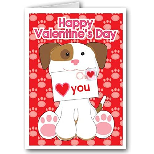 Puppy Valentine's Day card set - 12 carsd/13 envelopes Sales