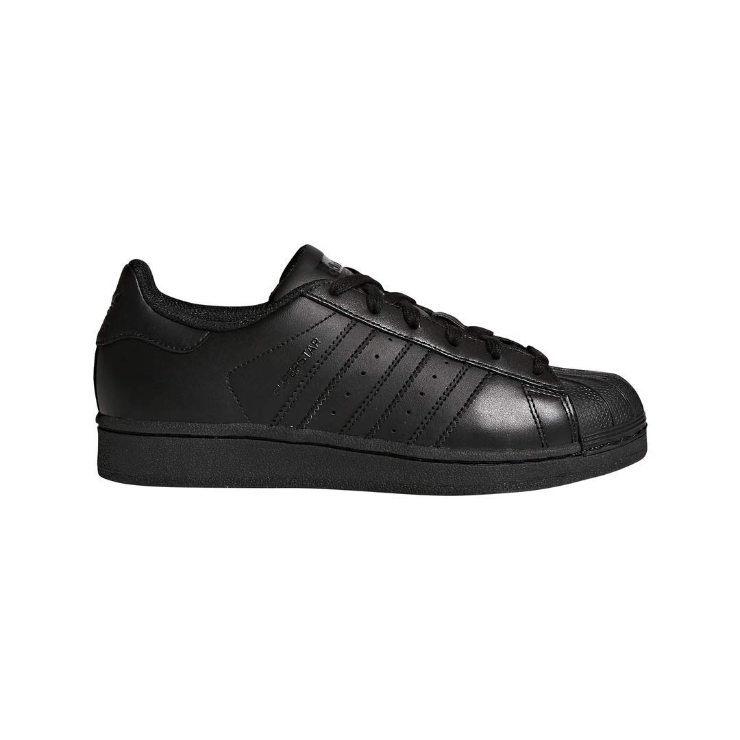 adidas Originals Superstar Running Shoe, Black, 4 M US Big Kid