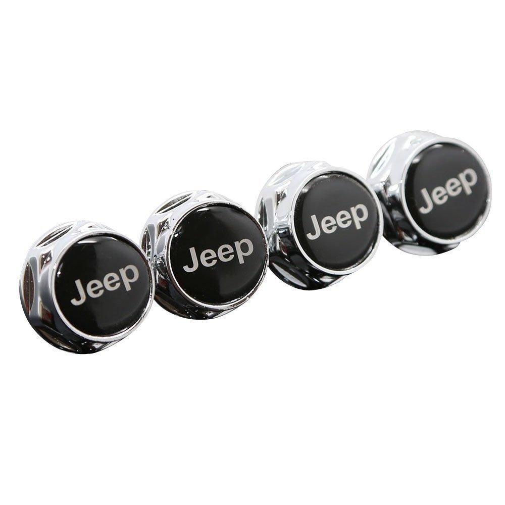 jinshan689 Chrome Metal Sports Style Car License Plate Frame Universal Bolt Screws for Jeep