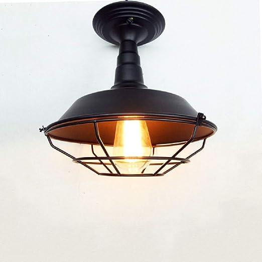 Loft Lámpara techo Vintage Lámpara techo empotrada E27 Edison ...