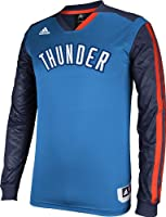 Oklahoma City Thunder Adidas 2013 Blue On Court Long Sleeve Shooter T-Shirt