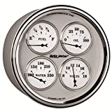 "Auto Meter 1210 Old Tyme White II 5"" Short Sweep Electric Quad Gauge"