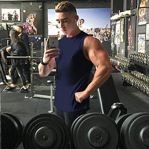 Coofandy Mens Workout Tank Top Sleeveless Muscle Shirt Cotton Gym Training Bodybuilding Tee