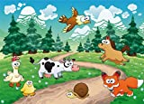 Wall Mural ANIMALS FUN photo Wallpaper 254x183cm Nursery by Nice walls