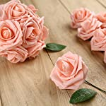 Febou-Artificial-Flowers-50pcs-Real-Touch-Artificial-Foam-Roses-Decoration-DIY-for-Wedding-Bridesmaid-Bridal-Bouquets-Centerpieces-Party-Decoration-Home-Display-Office-Decor-Standard-Type-Pink