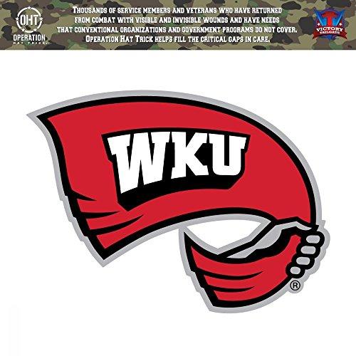 Western Kentucky University Hilltoppers WKU Operation Hat Trick OHT Die Cut Vinyl Decal (6x6)