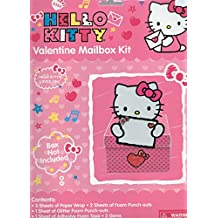 "Hello Kitty Valentine Mailbox Kit (Box Not Included) Designed to Decorate a Box 8.25"" x 11.75"" x 5 """