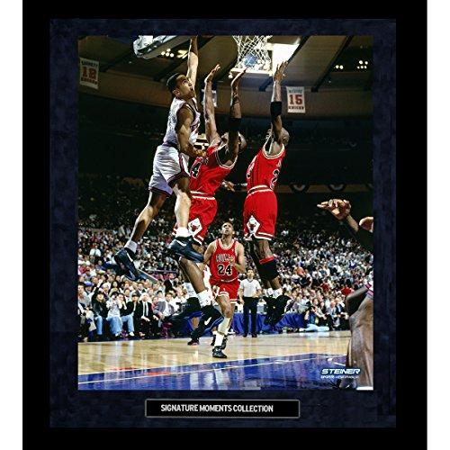 John Starks Dunk Vs. Bulls Custom Framed Golden Moments 16 Inch X 20 Inch Photo