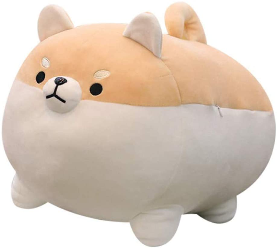 "Auspicious beginning Stuffed Animal Shiba Inu Plush Toy Anime Corgi Kawaii Plush Soft Pillow Doll Dog, Plush Toy Best Gifts for Girl Boy (Brown, 15.7"")"