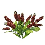 23-Hyacinth-Bush-Silk-Wedding-Craft-Flowers-Bouquets-Home-Party-Decor-14-Clusters-Burgundy