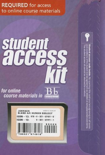 (Blackboard -- Access Card -- for Human Biology: Concepts and Current Issues (Blackboard (Access Codes)))