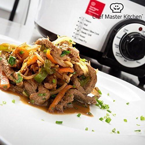 Chef Master Kitchen Quick Cooker Robot de cocina 1300 W – 6 diferentes funciones – 5 Litros Capacidad – Asar dämpfen calentar lento Cocinar Asar/Barbacoas fritieren: Amazon.es: Hogar