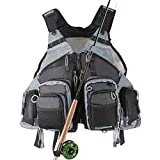 Kylebooker Fly Fishing Vest Pack (Fishing Vest/Fishing Sling Pack/Fishing Backpack)