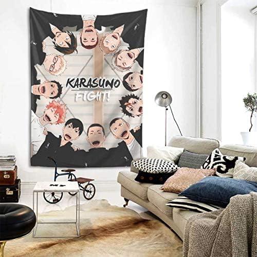 Touhou Anime Haikyuu Karasuno Team Wall Art Hanging Decor Tapestry 80×60 Inch