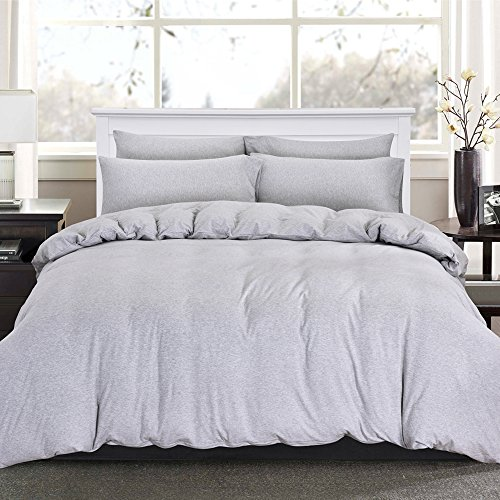 PURE ERA Solid Cotton Ultra Soft Jersey Knit Home Bedding 3