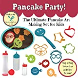 Pancake Party! - The Ultimate Pancake Art Making Set for Kids - A fun educational gift idea birthday holiday present! Real Cooking Tools & Baking Kits for Children!