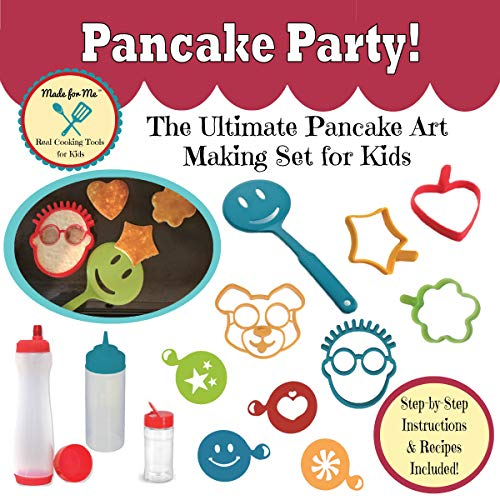 Pancake Party! - The Ultimate Pancake Art Making Set for Kids with Step-by-Step Fun & Easy Recipes! Made for Me Real Cooking Tools & Baking Kits for Children!
