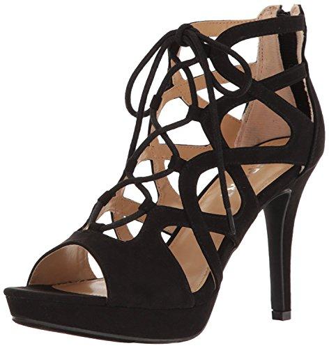 Report Women's Laxy Platform Dress Sandal, Black, 8.5 M US (Womens Shoes Report Flat)
